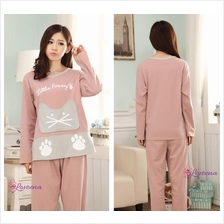 [M-3XL] Loveena Cotton Cat Paws Plus Size Pyjamas Sleepwear P0409
