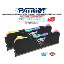 Patriot Viper RGB Series DDR4 16GB (2 x 8GB) 3200MHz Kit w/Black heats
