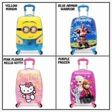 New Cartoon Kids Luggage 18 inch Carry On Luggage with Spinner Wheels Waterpro