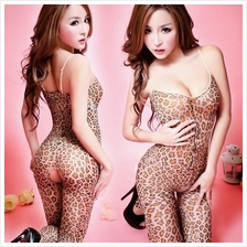 Leopard Sexy. Open Crotch Body Stocking Sexy Lingerie Costume S327