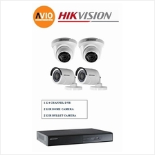 Hikvision 1MP 4Ch C0T Package A 720P HD CCTV