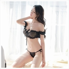 Women Off Shoulder Lace Bikini Sleepwear Set Lingerie S379 (2 Colour)