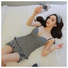 Cotton Padded Pyjamas Sleepwear Pants Camisole Set with Eyemask S384