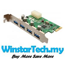 4 PORTS USB 3 0 USB3 0 Internal PCIe PCI-E Express Expansion Card: Best  Price in Malaysia