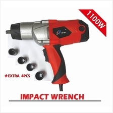 1/2 Electric Impact Wrench Car Tire Repair Tool Hand Power Tool 1100W