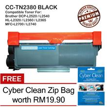 Brother TN2380 / TN2360 / TN2350 Grade-A Compatible Toner + CC Zip Bag