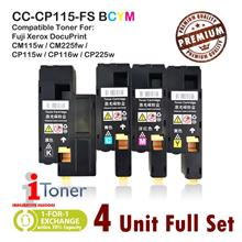 Fuji Xerox CP115 / CP116 / CP225 / CM115 / CM225 (4 Unit Full Set)