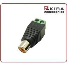 RCA Female to 2 Screw Terminals Connector