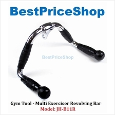 Gym Tool - Multi-Exerciser Rubber Grip Revolving Hanger Bar JH-B11R