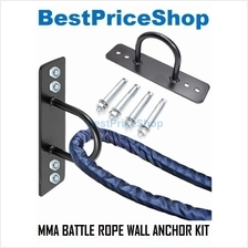 MMA Battle Battling Rope Wall Mount Anchor Kit Strap Ceiling Iron Hook