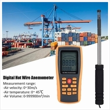 GM8903 Digital Hot Wire USB Anemometer 0-30ms Wind Air Speed Flow Temp