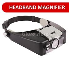 10X LED Headband Magnifier Lighted Head Magnifying Glass Loupe Watch