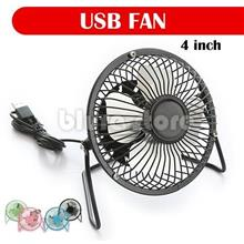 Mini USB Fan Super Super Mute Metal Fan 4inch Table Desktop Laptop Fan