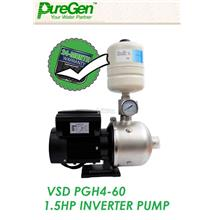 PureGen PGH 4-60 Inverter Stainless Steel Multi-Stage Booster Pump