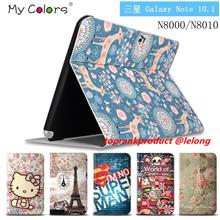 Samsung Galaxy Note 10.1 N8000 Flip Cartoon Leather Case Cover Casing