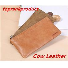 100% Cow Leather iPhone Samsung Case Cover Wallet Money Clips Bag