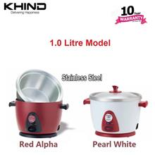 Free delivery Khind Anshin Rice Cooker RC110M stainless steel