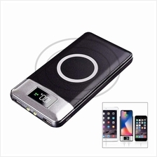 10000mAh Power Bank Qi Wireless Charging 2 USB LCD LED Portable Battery Charge