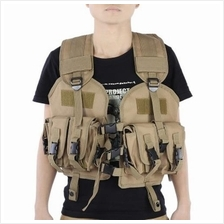 TACTICAL CAMOUFLAGE COOL HUNTING VEST OUTDOOR TRAINING MILITARY ARMY SWAT WAIS
