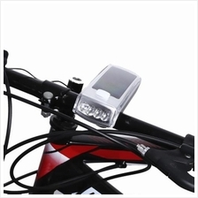 BIKE SOLAR USB RECHARGEABLE CYCLING BICYCLE 4 LEDS FRONT LIGHT HANDLEBAR LAMP
