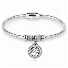 Celovis Family Tree of Life with Austrian Crystal Bracelet (Silver) - CB-FTOL-)