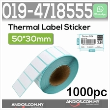 Thermal Barcode Sticker Paper Bar Code Label 50X30