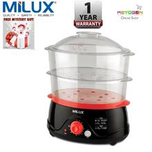 Milux 2-In-1 Food Steamer MFS-8001 With Steam/Stew Selection Switch