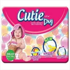 CUTIE Dry Basic Baby Diapers Mega Pack XXL 40s