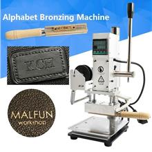 Hot Foil Stamping Machine Manual Alphabet Letter Leather PU Emboss