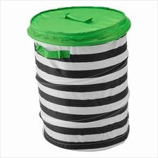 IKEA Flyttbar Basket With Lid Green Storage Toys And Clothes