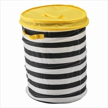 IKEA Flyttbar Basket With Lid Yellow Storage Toys And Clothes