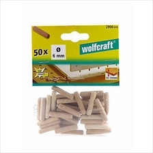 Wolfcraft 50pcs 6mm x 30mm Dowel Pins