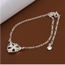 CHIC CROSS SHAPE HOLLOW OUT SOLID COLOR WOMEN'S ANKLET (WHITE)