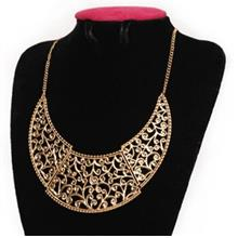 TRENDY OPENWORK MOON PENDANT NECKLACE FOR WOMEN (AS THE PICTURE)