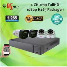 4CH 2MP AHD CCTV Package (2MP Camera + 4Ch HD Recorder)