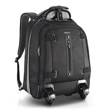 1 Year Warranty - Men Business Invisible Roller Bag Backpack Luggage