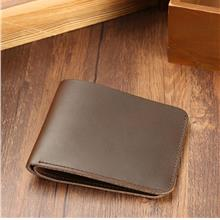Men Cow Leather Minimalist Wallet Purse