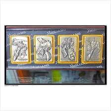 1 Set 4 pieces NgLiang Transformer 3DEmbossed Genuine Kerosene Lighter