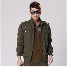Men Army Green Outdoor Thick Jacket
