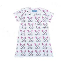 SOSOCOER GIRLS SUMMER DRESS LOVELY RABBIT PRINT SHORT SLEEVE SKIRT