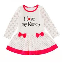 SOSOCOER BABY GIRLS DRESS I LOVE MY MOMMY POLKA DOT CHILDREN CLOTHING