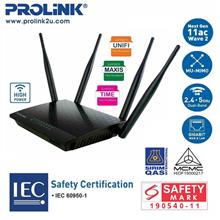 PROLiNK PRC3801 Wireless AC1200 MU-MIMO Dual-Band Gigabit Router)