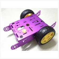 Purple 2WD Robot Smart Car Aluminum Chassis Kit Set