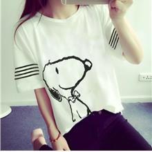 YOUNG GIRL CUTE TOP WHITE SNOOPY