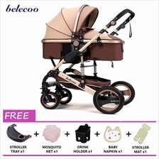 BELECOO Premium Baby Stroller High Seat Carriage 0-36 months