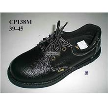 Safety Shoes [ Leather Surface with Steel Toe Cap and Steel plate ]