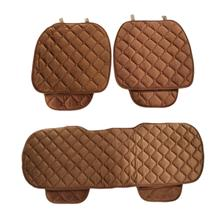 Universal Winter Automobile Seating Mats Car Seat Pads 3pcs (COFFEE)