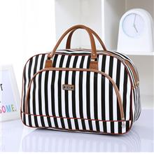 5920de4f319a PU Leather with canvas Extra Large Solid Luggage Hand carry luggage