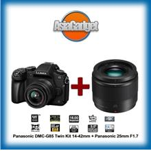Panasonic DMC-G85 Twin Kit 14-42mm + 25mm F1.7 FREE 32Gb Sandisk Ultra