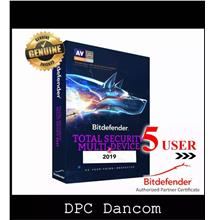 Bitdefender Total Security MD (5 Device for 1 Year) (Key Send By Email
